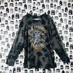 Gas Monkey Garage | Long Sleeve Tie-dye T-shirt
